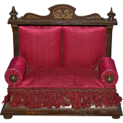 German 19th sofa for doll houses