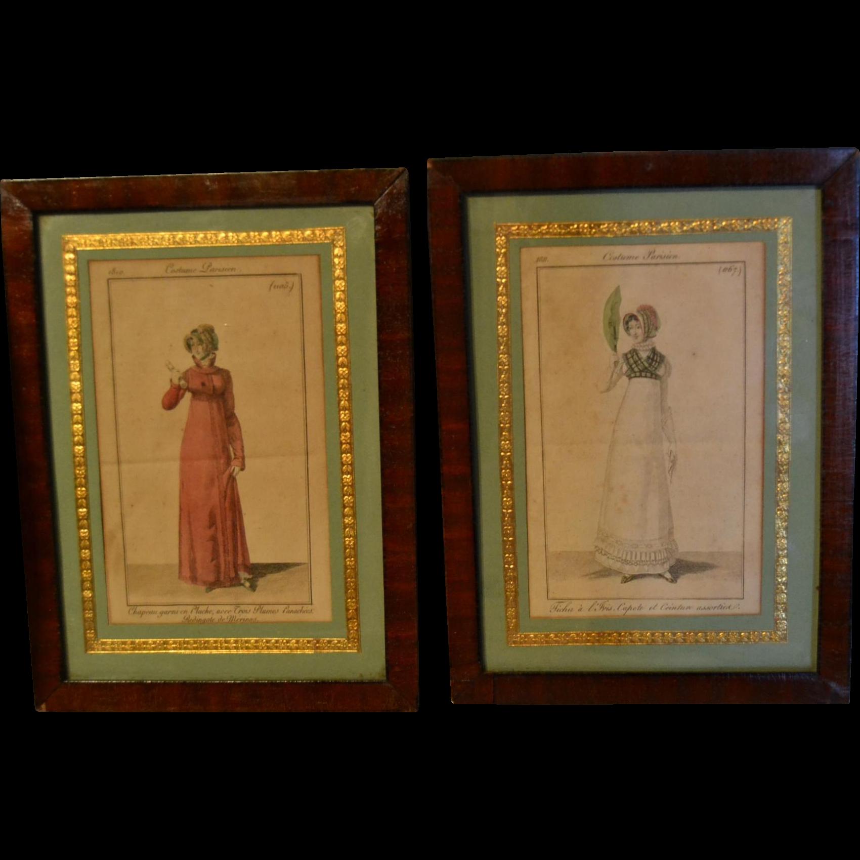 Delicious pair of French fashion engraving Circa 1810/1811