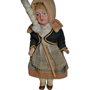 "6 1/4"" SFBJ bebe 301 in her original costume of the Bearn"