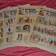 La semaine de suzette de 1923/24 4 newspaper with3 wonderful pattern for bleuette
