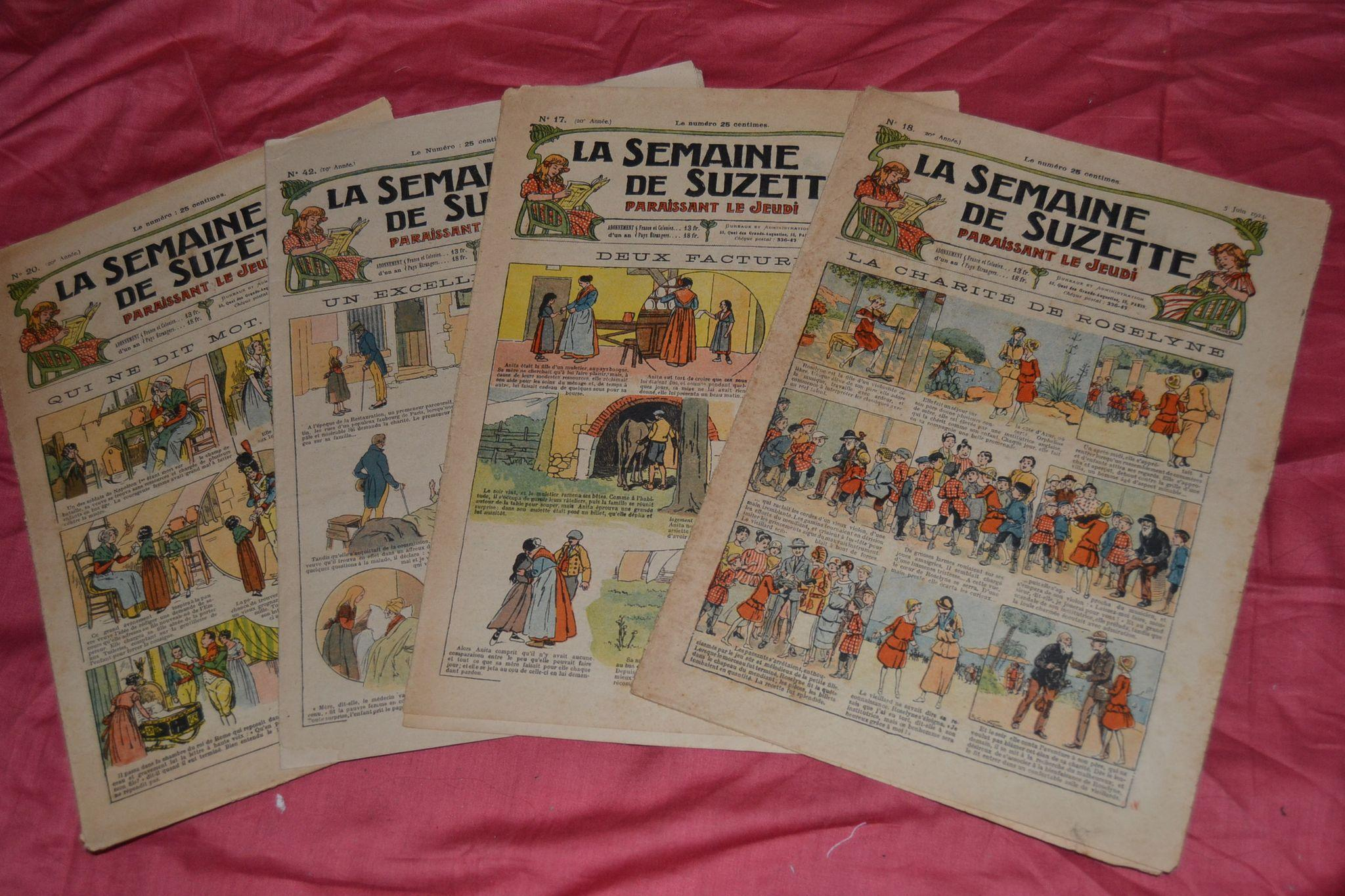 La semaine de suzette de 1923/24 4 newspaper with3 wonderful pattern for bleuette