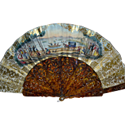 Gorgeous spanish 1850/1860 souvenir fan