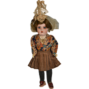 All composition antique country doll