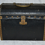 Antique original rare size fashion doll trunk