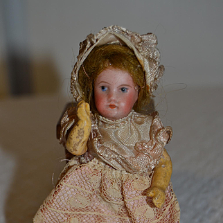 Nice tiny french sfbj doll for your doll house