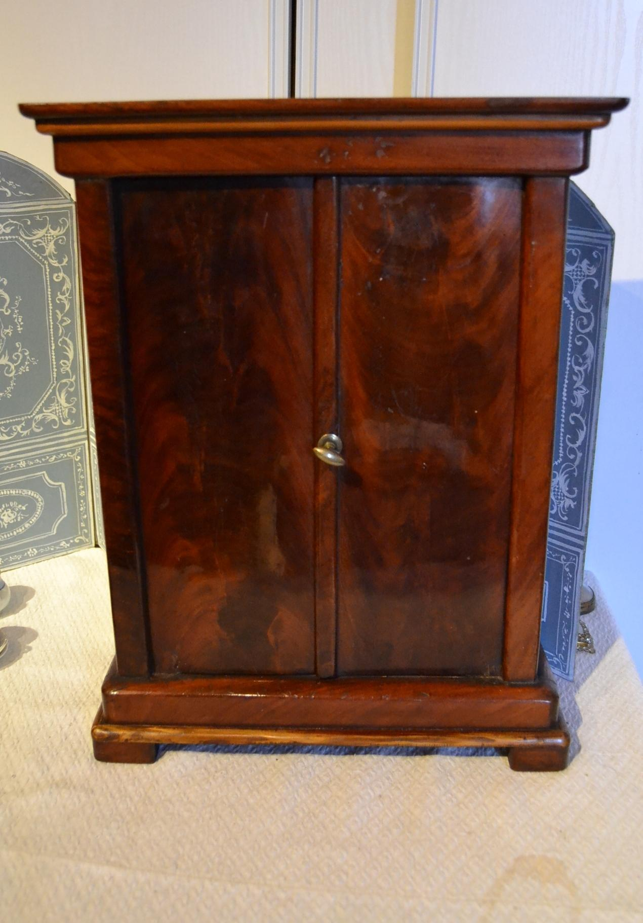 French Louis-Philippe mahogany armoire for your fashion doll
