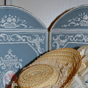 Lovely 1890 French straw hat