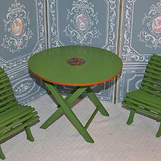 Bleuette size and period garden furniture