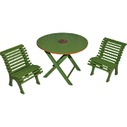 Bleuette size and period garden furniture