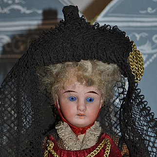 Wonderful all original bressane doll from france 1900