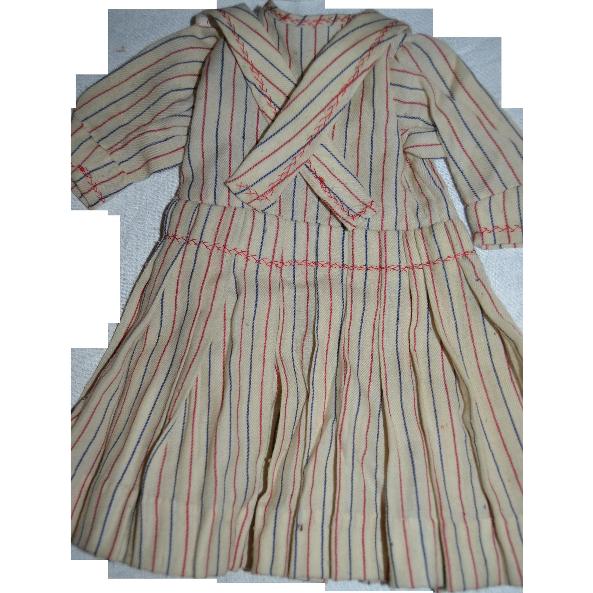 Wonderful antique French mariner style dress