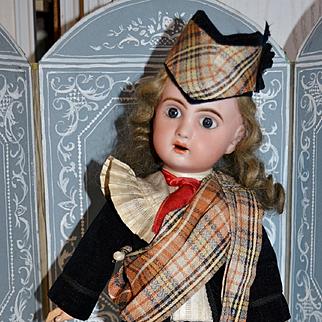 "15"" Adorable jumeau sfbj period in original scottish outfits"