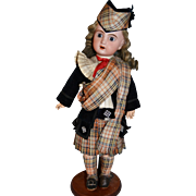 "15"" Adorable jumeau sfbj period in original scottish outfits"