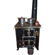 Wonderful french  cast iron stove 1870/1880 the most fabulous model