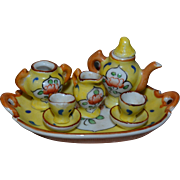 French Limoges tea set for doll's houses
