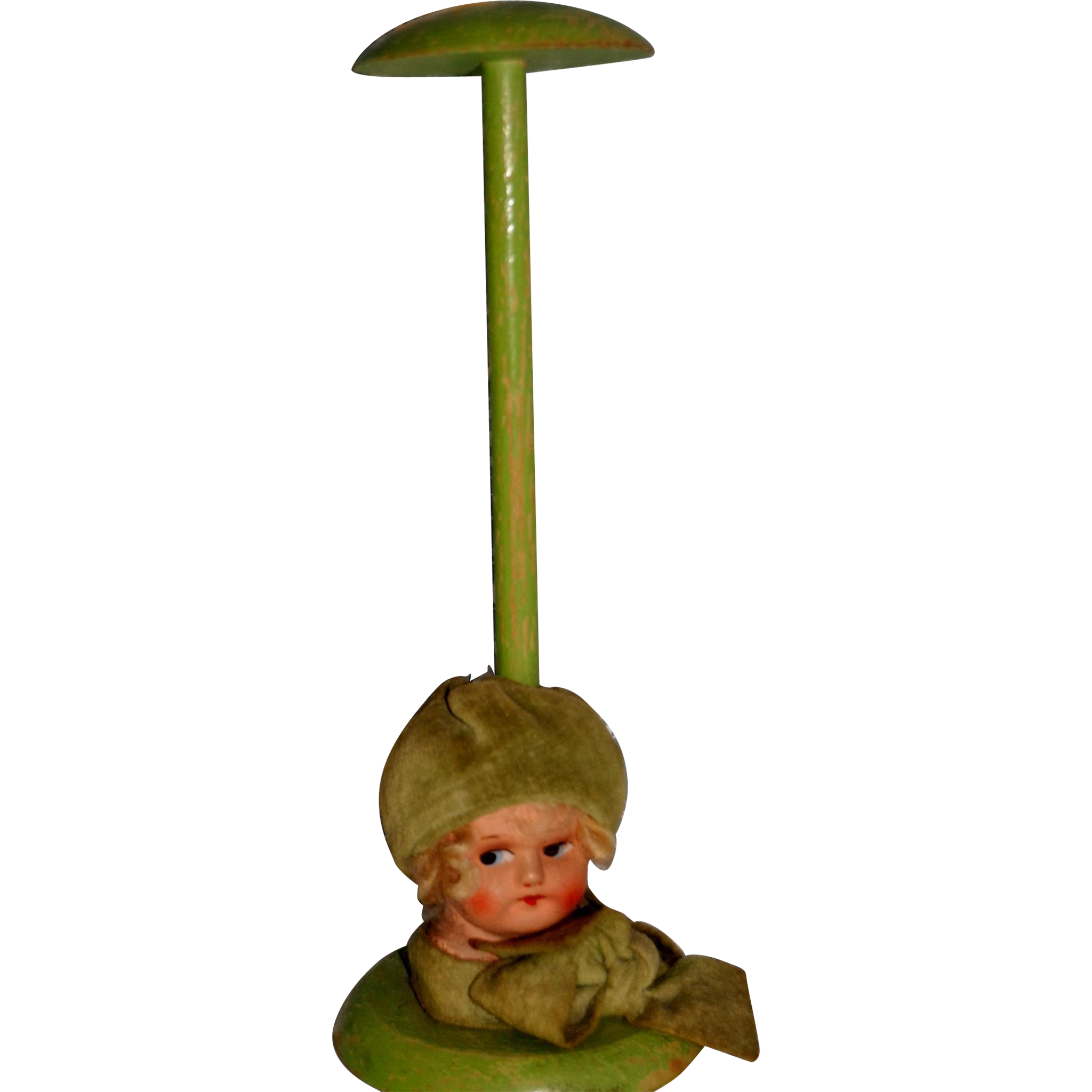 Lovely hat stand with composition head