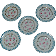 Set of gorgeous limoges plates for doll's houses