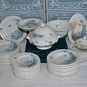 Dinner set by Gien from France 1890
