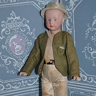 """11"""" Heubach little boy all original"""
