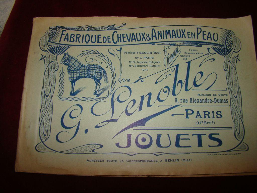 Toys original catalog Lenoble