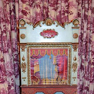 Antique French GUIGNOL 1900 all original puppet theater