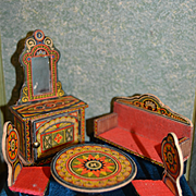 Small scale lithographed paper parlor