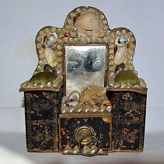 Victorian shell box souvenir for a little girl