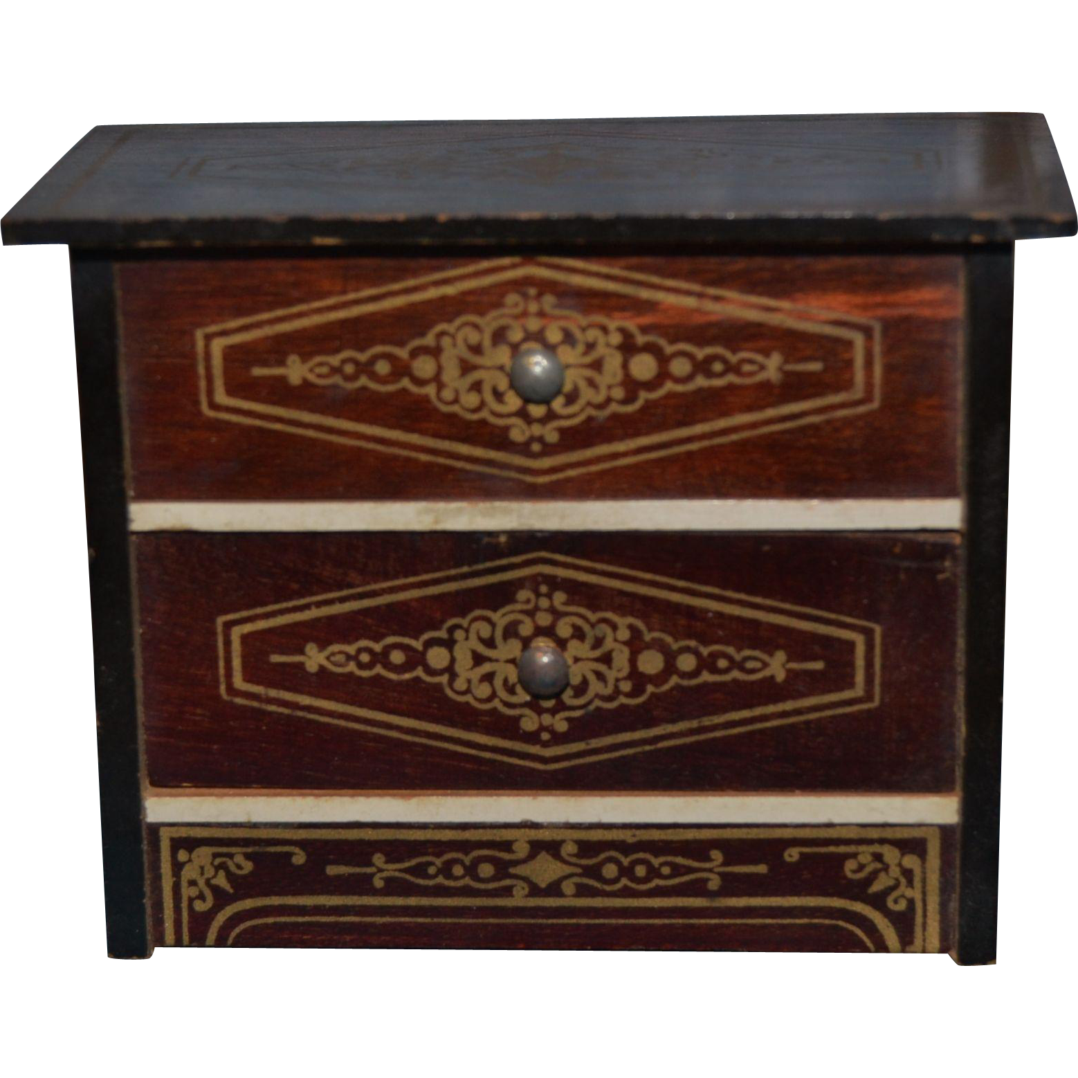 Charming small scale chest for your doll's house