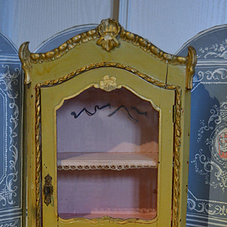 Outstanding antique French  windows cupboard presentation box for a tea set