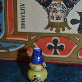 French 1870 Paris porcelain vase for doll's house
