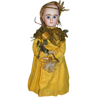 Rare model of  christmas fairy french candy container 1880/1885