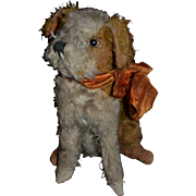 Charming vintage 1930 plush dog