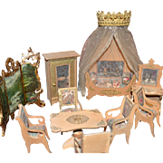 Wonderful all original Louis Badeuille parlor set