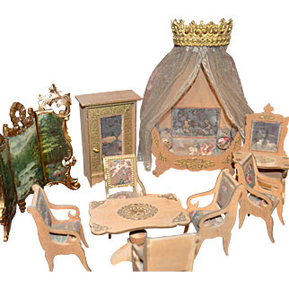 Wonderful all original Louis Badeuille parlor set