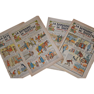 La semaine de suzette  4 newspaper 1923/25