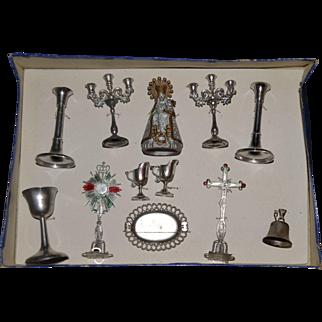 Religious toys for doll's altar or church 1880/1900