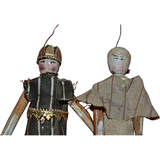 1850/1860 Wooden theater doll from Germany
