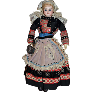 French bisque poupee Jumeau from Finistere Brittany France  circa 1880