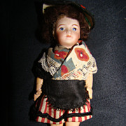 Doll in historical garb, France, around 1910/1920