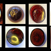 Collection of 5 roman intaglio ring seals, 1st.-3rd.AD