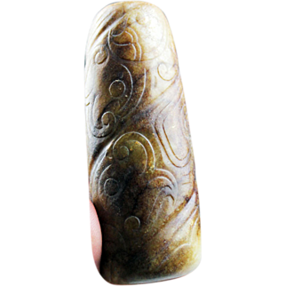 Rare large Chinese Song / Ming Dynasty jade pendant!