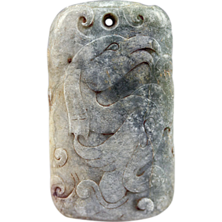 High Quality Chinese ancient jade carving plaque!