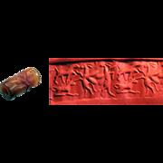 Choice Neo Assyrian Carnelian Cylinder seal