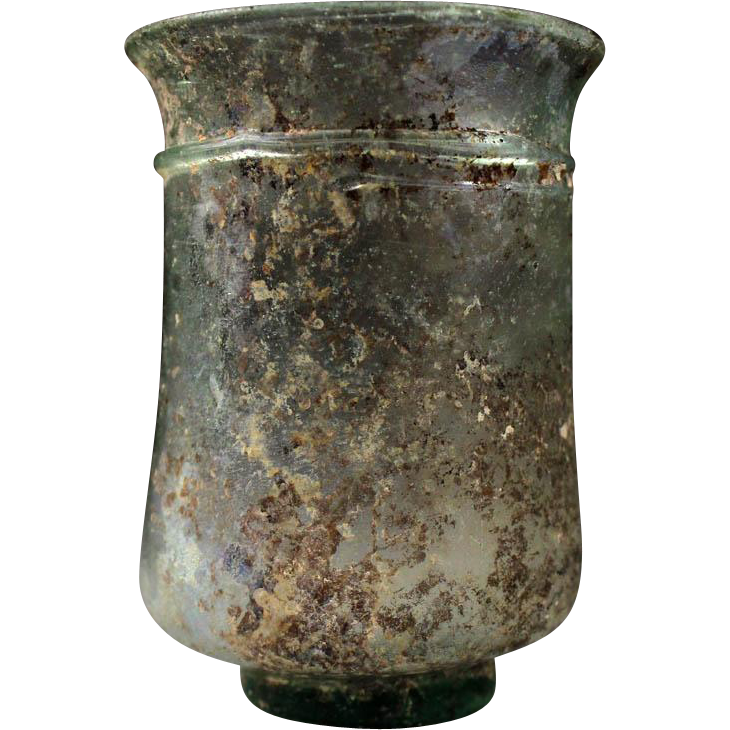 Superb large Roman glass beaker, 2nd.-3rd. century AD