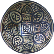 Large Islamic pottery bowl, Western-central Asia, 10th-11th. cent.