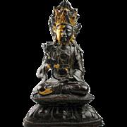 Chinese Ming Dynasty gilt bronze Guyanin, buddha - gem!
