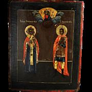 Rare and choice Russian Orthodox icon, ca. 1800-1850!
