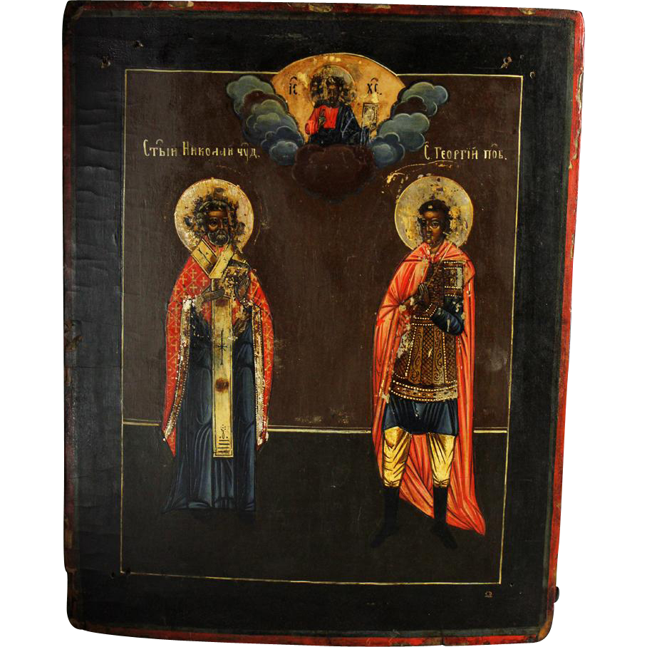 Rare and choice Russian Orthodox icon, ca. 1800-1850!