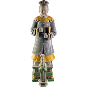 Mega-size Chinese female tomb pottery figure, Ming - 62 cm.!