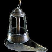 Rare Renaissance Jewish bronze Oil Lamp, ca. 16th. century!